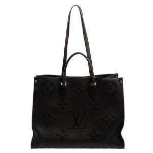 Louis Vuitton Black Monogram Empreinte Leather Onthego GM Bag