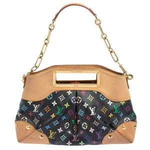 Louis Vuitton Black Monogram Multicolore Canvas Judy MM Bag