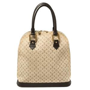 Louis Vuitton Khaki Monogram Mini Lin Canvas Alma Haut Bag