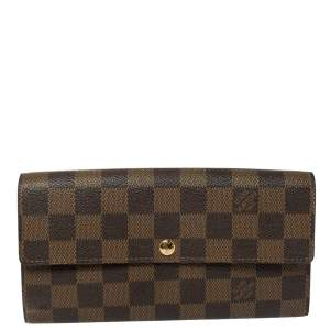 Louis Vuitton Damier Ebene Coated Canvas Sarah Wallet