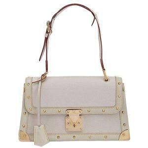 Louis Vuitton White Suhali Leather Le Talentueux Bag with Wallet