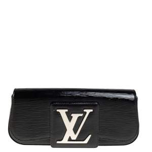 Louis Vuitton Black Electric Epi Leather Sobe Clutch