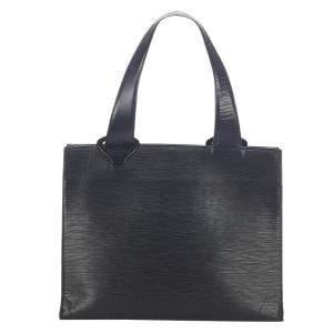 Louis Vuitton Black Epi Leather Gemeaux Tote Bag