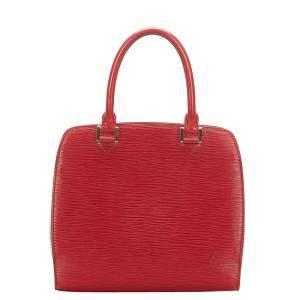 Louis Vuitton Red Epi Leather Pont Neuf Tote Bag