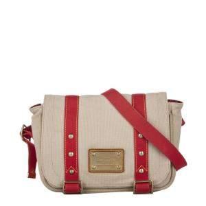 Louis Vuitton Red Canvas Antigua Besace Messenger Bag