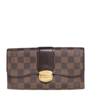 Louis Vuitton Damier Ebene Coated Canvas Sistina Wallet