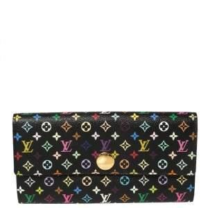 محفظة لوي فيتون سارة كانفاس مونوغرامي أسود متعدد الألوان