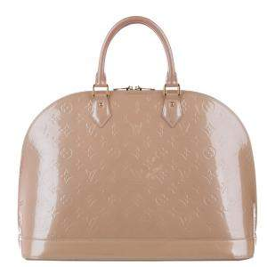 Louis Vuitton Beige Monogram Vernis Alma MM Bag