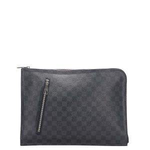 Louis Vuitton Black Damier Graphite Canvas Poche Documents Portfolio