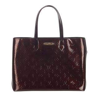 Louis Vuitton Brown Monogram Vernis Wilshire MM Bag