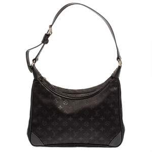 Louis Vuitton Black Monogram Satin Mini Boulogne Bag