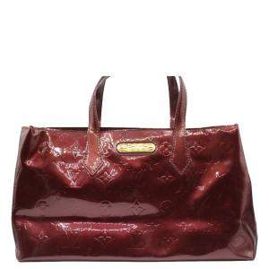 Louis Vuitton Red Monogram Vernis Wilshire Bag