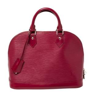 Louis Vuitton Fuchsia Epi Leather Alma PM Bag