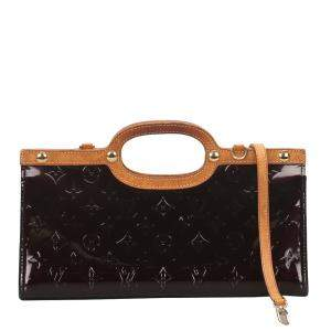 Louis Vuitton Burgundy Monogram Vernis Roxbury Drive Bag