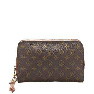 Louis Vuitton Brown Monogram Canvas Pochette Orsay Clutch