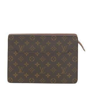 Louis Vuitton Monogram Canvas Pochette Homme Clutch Bag