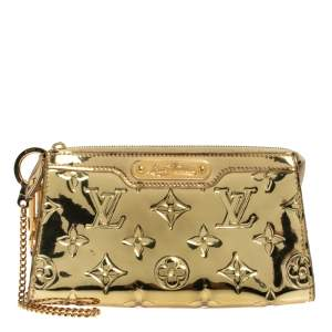 Louis Vuitton Gold Monogram Miroir Trousse Cosmetic Pouch