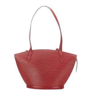 Louis Vuitton Red Epi Leather Saint Jacques PM Long Strap Bag