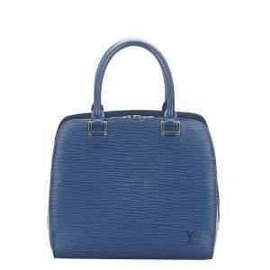 Louis Vuitton Blue Epi Leather Pont Neuf Tote Bag