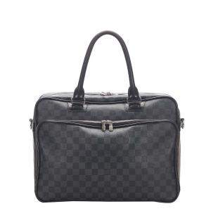 Louis Vuitton Black Damier Graphite Canvas Icare Laptop Bag