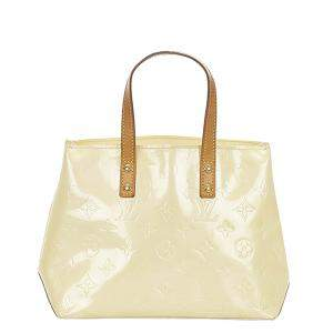 Louis Vuitton White Vernis Leather Reade Tote Bag
