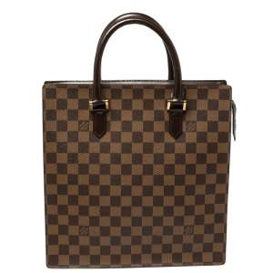 Louis Vuitton Damier Ebene Canvas Sac Plat PM Bag