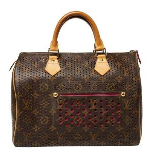 Louis Vuitton Monogram Perforated Canvas Limited Edition Speedy 30 Bag