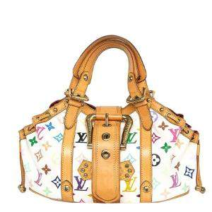 Louis Vuitton White Monogram Multicolore Theda GM Bag