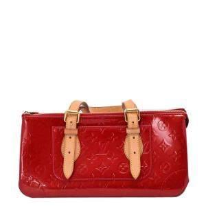 Louis Vuitton Red Monogram Vernis Rosewood Avenue Bag