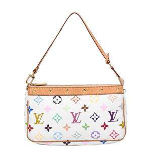 Louis Vuitton White/Multicolor Monogram Multicolore Canvas Pochette Accessoires Bag