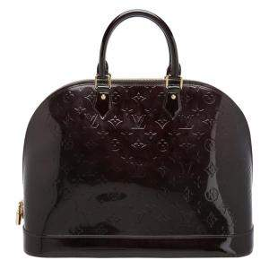 Louis Vuitton Amarante Monogram Vernis Leather Alma GM Bag