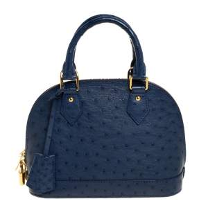 Louis Vuitton Indigo Ostrich Alma BB Bag