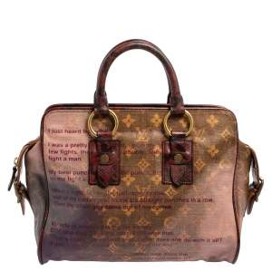 Louis Vuitton Monogram and Karung Trim Limited Edition Richard Prince Graduate Jokes Bag