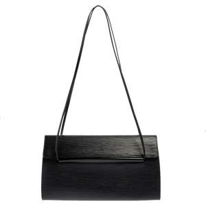 Louis Vuitton Black Epi Leather Dinard Bag