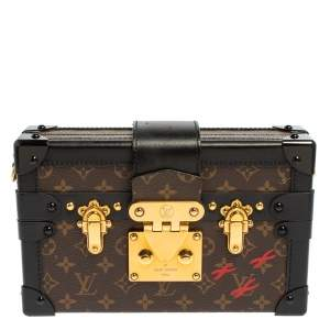 Louis Vuitton Monogram Canvas and Leather Petite Malle Bag