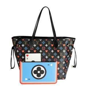 Louis Vuitton Black/Multicolor Monogram Canvas Game On Neverfull MM Bag