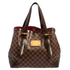 Louis Vuitton Damier Ebene Canvas and Leather Hampstead MM Bag