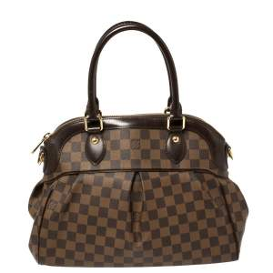 Louis Vuitton Damier Ebene Canvas and Leather Trevi PM Bag