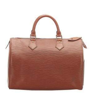 Louis Vuitton Brown Epi Leather Speedy 30 Bag