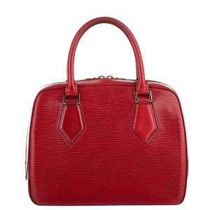 Louis Vuitton Red Epi Leather Sablons Bag