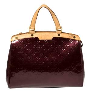 Louis Vuitton Rouge Fauviste Monogram Vernis Brea GM Bag