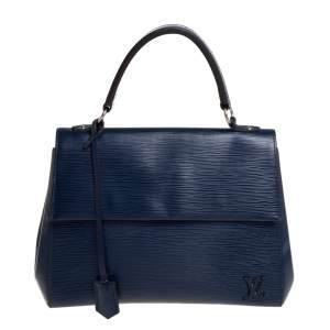 Louis Vuitton Indigo Epi Leather Cluny MM Bag