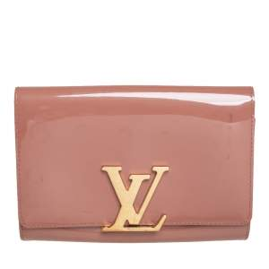 Louis Vuitton Rose Florentine Patent Leather Louise EW Clutch
