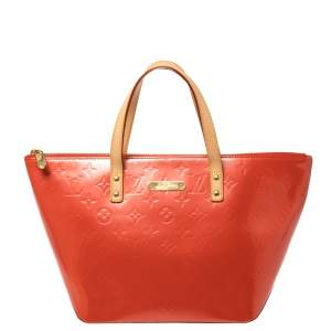 Louis Vuitton Orange Sunset Monogram Vernis Bellevue PM Bag
