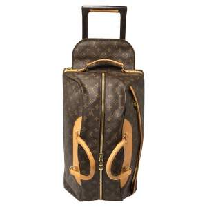Louis Vuitton Brown Monogram Coated Canvas Neo Eole 55 Rolling Luggage