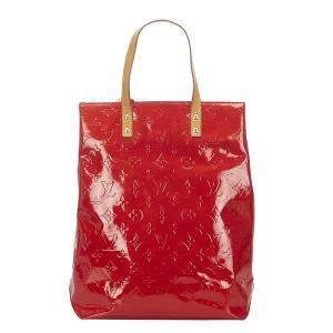 Louis Vuitton Red Monogram Vernis Reade MM Bag