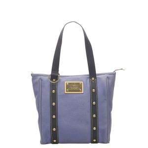 Louis Vuitton Purple Canvas Antigua Cabas MM Bag