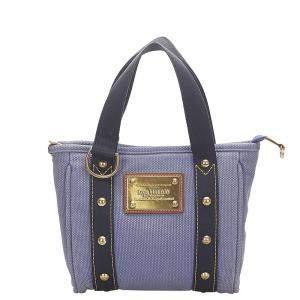 Louis Vuitton Purple Canvas Antigua Cabas PM Bag