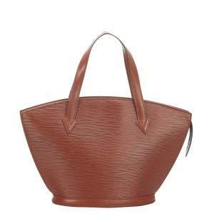 Louis Vuitton Brown Epi Leather Saint Jacques PM Short Strap Bag
