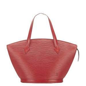 Louis Vuitton Red Epi Leather Saint Jacques PM Short Strap Bag